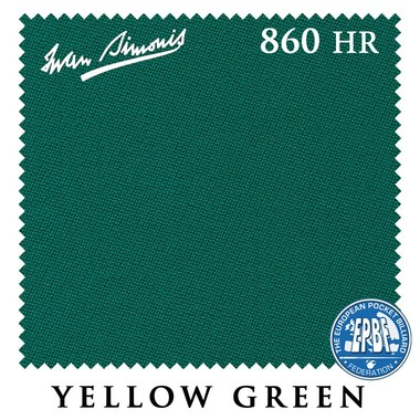 Сукно Iwan Simonis 860 860HR 198см Yellow Green